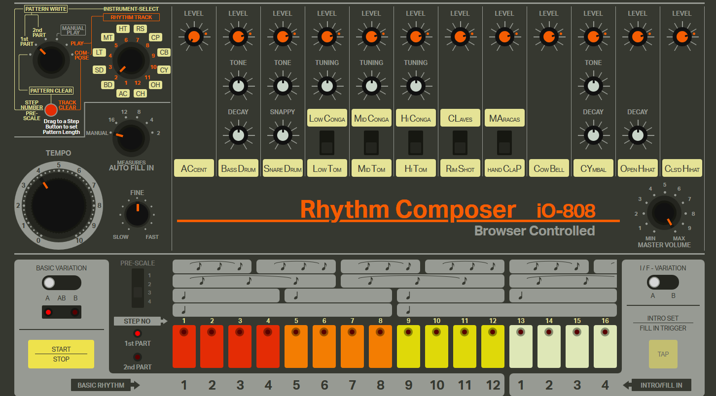 play the tr 808 drum machine in your browser jamvana. Black Bedroom Furniture Sets. Home Design Ideas