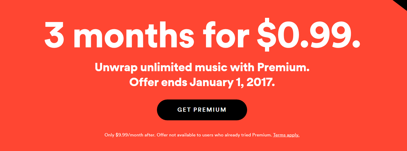 Spotify is Offering 3 Months of Premium for $0 99 | Jamvana
