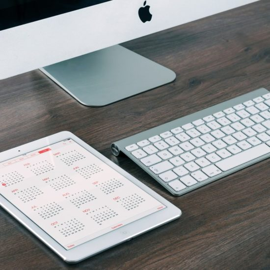 Calendar iPad Mac keyboard and mouse