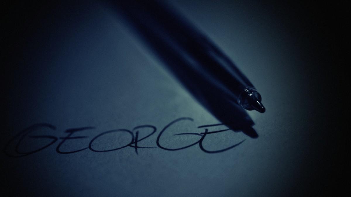 marker george dark paper